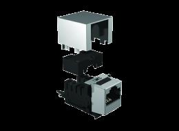 brandrex cat5e connettori RJ45 profilo ridotto