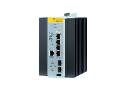 Allied Switch industriale gestito con 4 porte 10/100TX PoE+ e 2 SFP 100/1000 AT-IE200-6FP