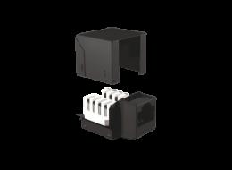 brandrex cat5e connettore rj45 nero
