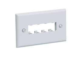 Panduit placca Mini-com 4 spazi CFPH4IW