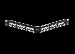 Panduit pannello modulare angolato interamente in metallo CPA24BLY