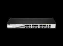 D-Link SmartSwitch PoE 24 porte Gigabit e 4 SFP DGS_1210-24P