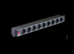 Tecnosteel barra di alimentazione a 9 prese con spia luminosa F3041NS