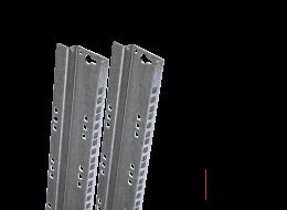 Tecnosteel coppia montanti per armadio rack 27 U