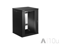 Tecnosteel armadio rack a parete nero Compact Net 10 U