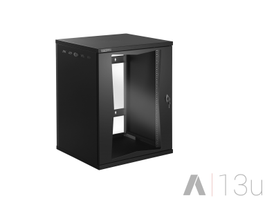 Tecnosteel armadio rack a parete nero Compact Net 13 U