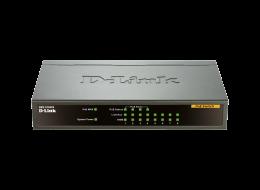 D-Link switch non gestito poe 8 porte fast ethernet 10/100 mbps DES-1008PA